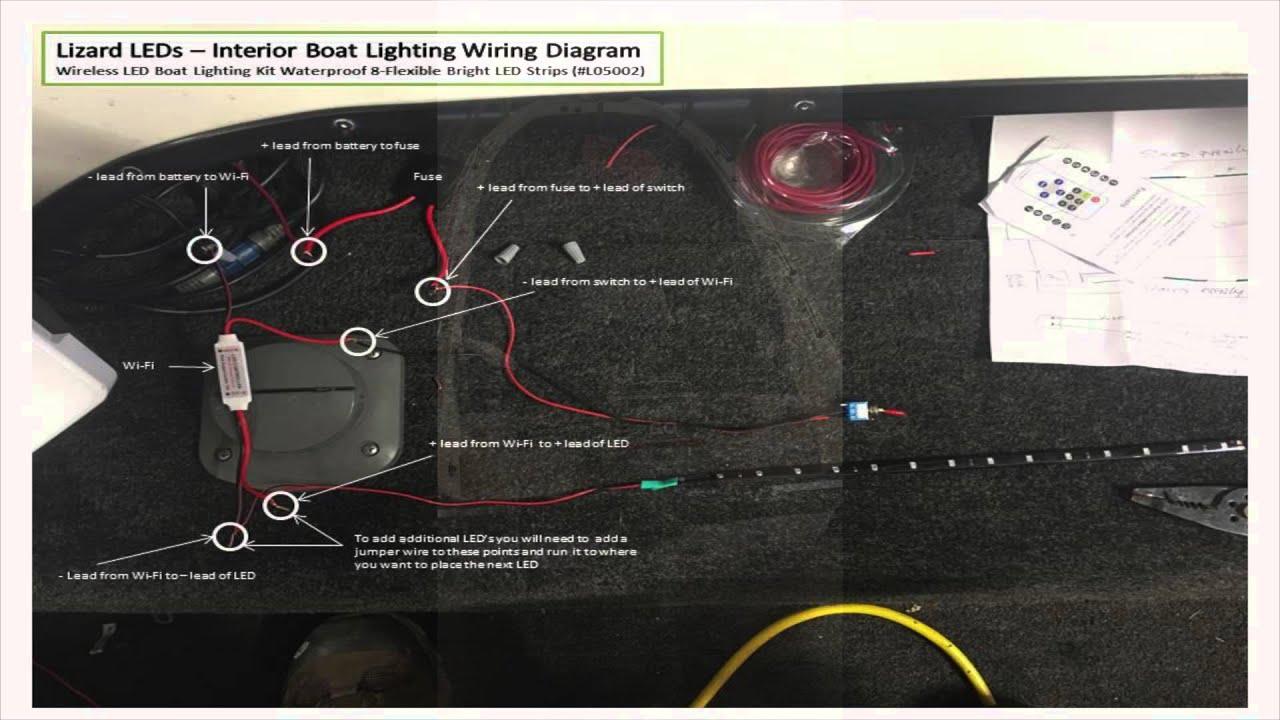 led boat light wiring diagram automotive software lizard leds interior lighting youtube