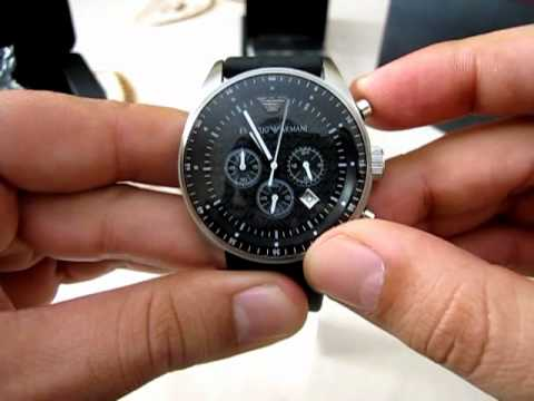 55d6c8656 NEW EMPORIO ARMANI WATCH AR-0527 - YouTube