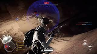 Killing a Hero (Iden) at full health with Repulsor Cannon + Specialist Melee  l  Battlefront II
