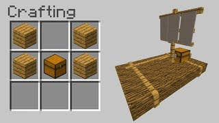 How to Craft a RAFT in Minecraft Pocket Edition!