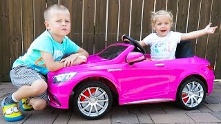 Unboxing And Assembling - 12V POWER WHEEL Ride On Pink Mercedes Benz S63 AMG V8 BiTurbo for Girls