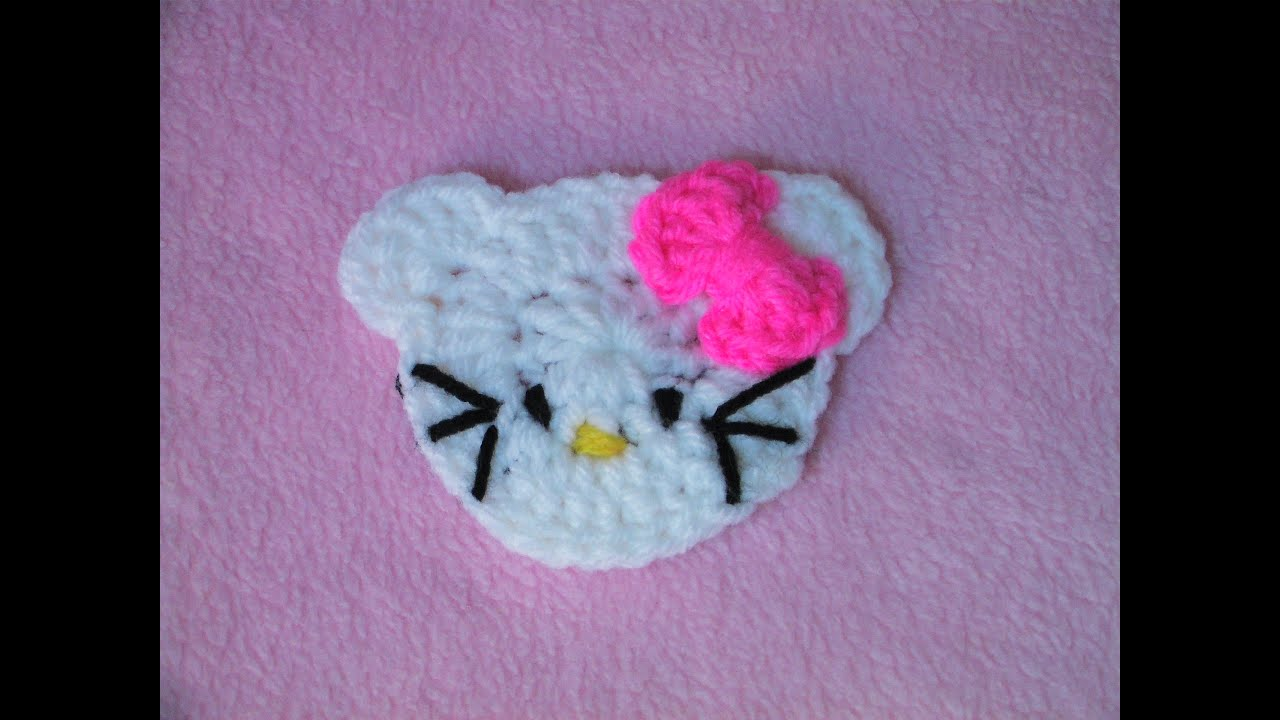 Πλεκτη Απλικε hello kitty hello kitty applique crochet tutorial