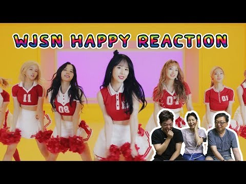 WJSN happy reaction // 우주소녀 리액션 - วันที่ 16 Jul 2017