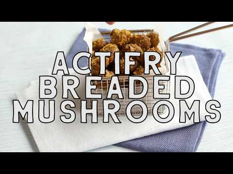 Healthy Breaded Mushrooms by 'Easy Cheesy Vegetarian' | Spin Class | ActiFry Genius