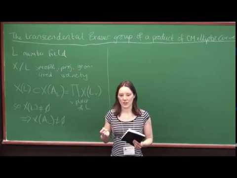 Rachel Newton - The transcendental Brauer group of a product of CM elliptic curves [2014]
