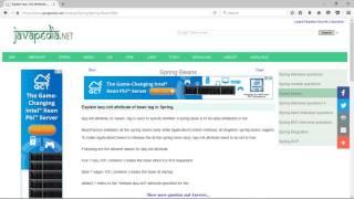 Explain lazy-init attribute of bean tag in Spring. | javapedia.net