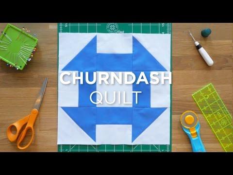 Make An Easy Churn Dash Quilt Block - Quilt Snips
