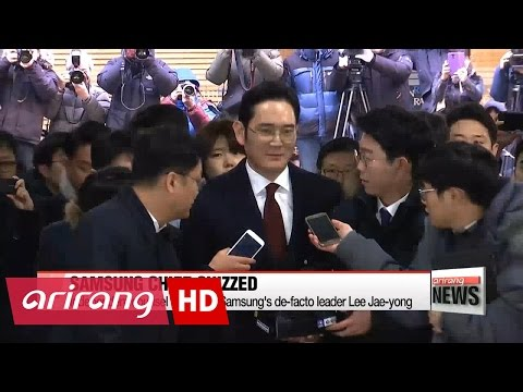 Independent counsel questioning Samsung heir apparent over corruption allegations