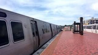 WMATA Metrorail 7000 Series Railcars 8 Car Train Arriving @ Rhode Island Ave Station