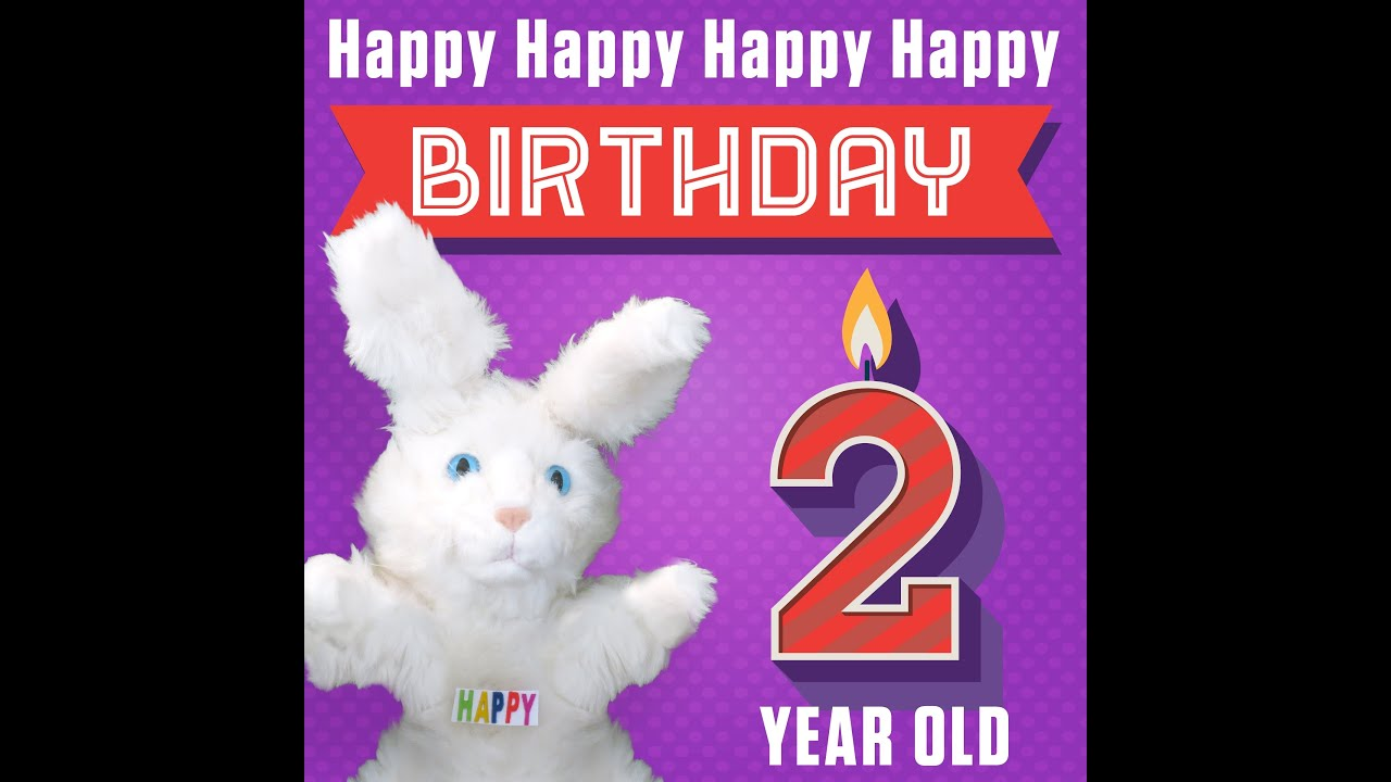 hoppa the happy bunny happy happy happy happy birthday 2 years old