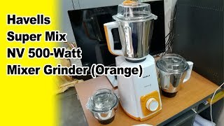 Havells Super Mix NV 500-Watt Mixer Grinder (Orange)