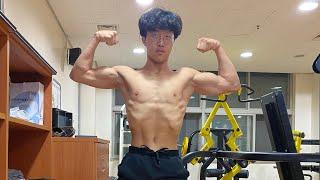 (보디빌딩 1주일차) 작년까지만 해도 중학생이였던 17살 씨름선수 김용하 보디빌딩 도전을 합니다 많은 응원 부탁합니다 반여고등학교