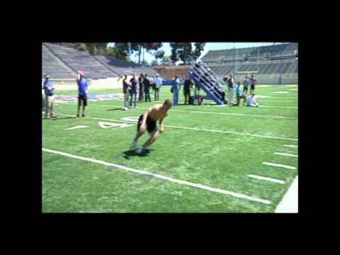 Manu Ngatikaura #38 Safety NFL Pro Day Workout: San Jose State University