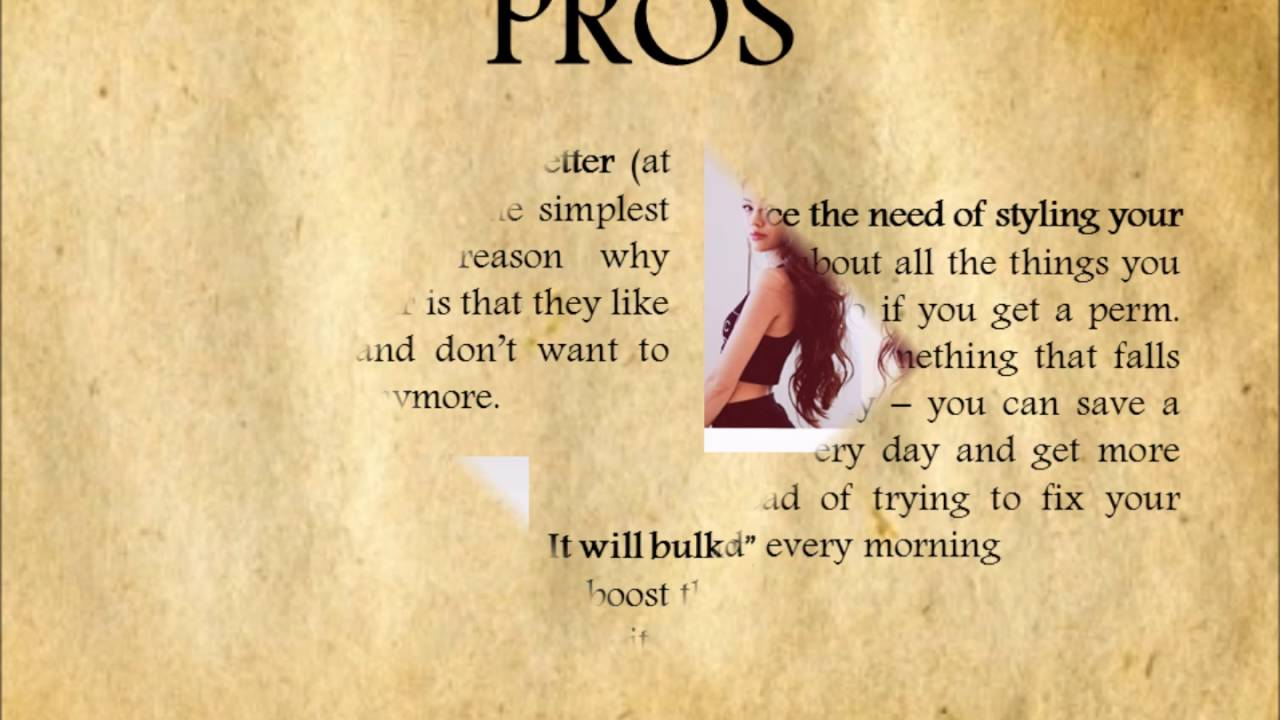 Straight hair perms pros and cons - The Permanent Curling Of Hair