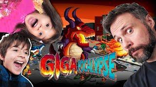 CAOS no jogo e no gameplay com as crianças! Gigapocalypse (Gameplay em Português PT-BR)