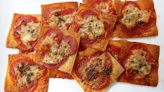 Best Wonton Pepperoni Pizzas recipe by SAM THE COOKING GUY