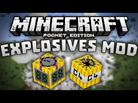 TIMED AND REMOTE C4 in MCPE!!! - The Explosives Mod! - Minecraft Pocket Edition
