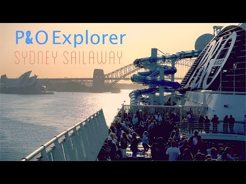 P&O Pacific Explorer Through Sydney Harbour!