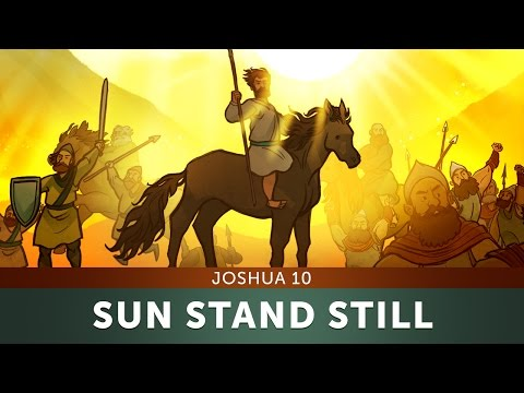Sunday School Lesson For Kids - Sun Stand Still - Joshua 10 - Bible Teaching Stories For Kids Church