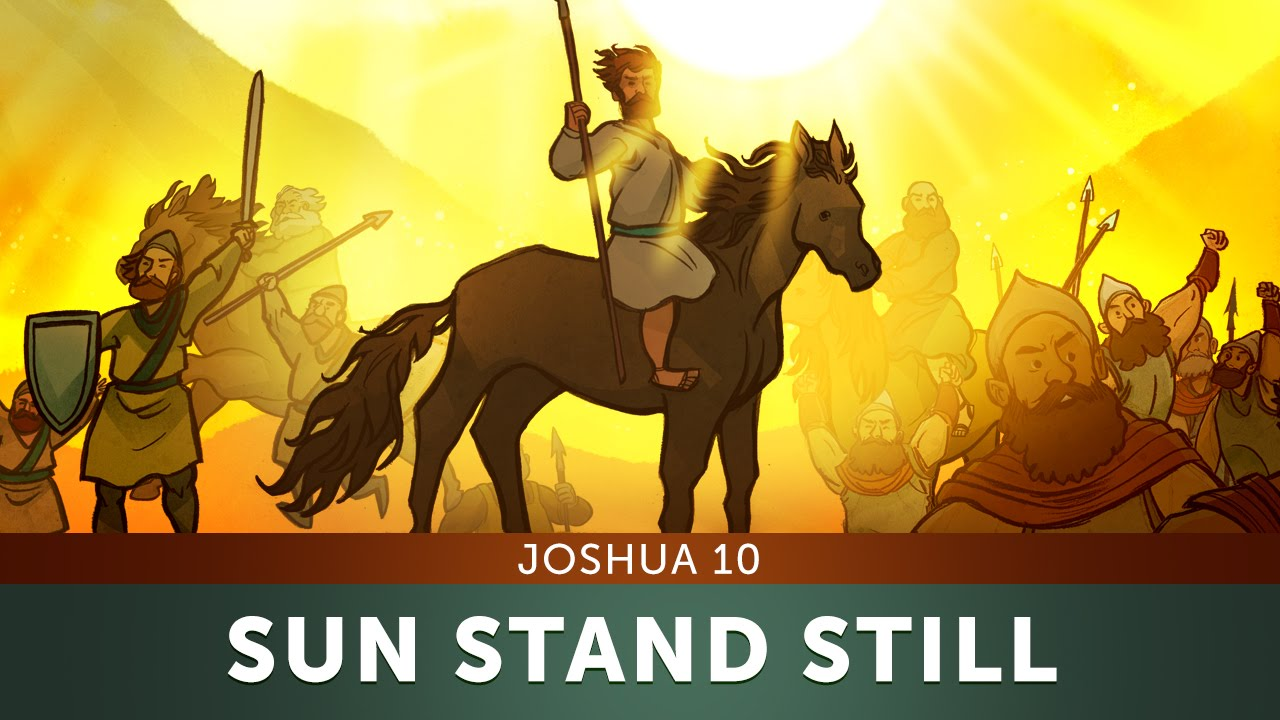 Image result for image of joshua making the sun stand still