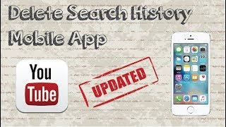 How to delete Youtube search history on mobile app