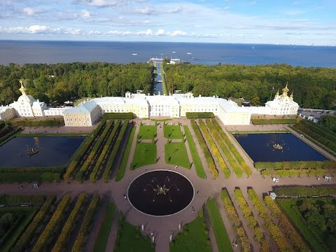 Petergof , Russia from drone Phantom 4 in 4K
