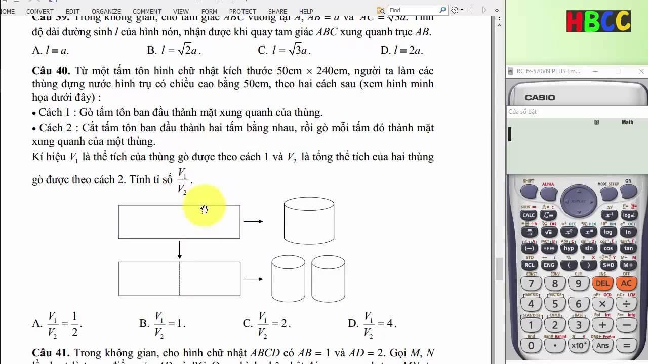 Giải đề thi minh họa môn Toán 2017 của BGD- Phần 1A: Hàm số