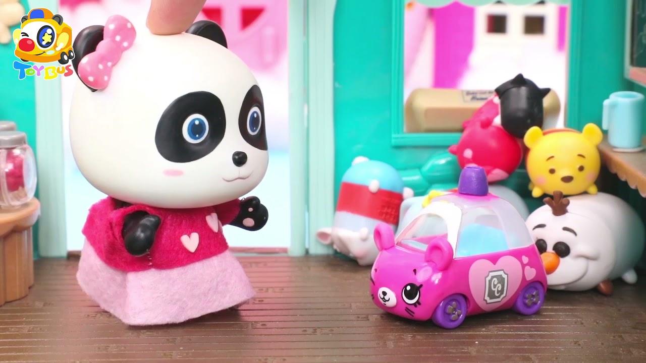 ミュウミュウのお寿司パーティーが始まりますよ❤トイバス(ToyBus) キッズ おもちゃアニメ