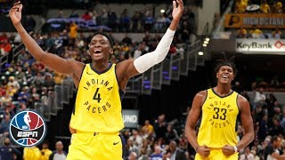 Victor Oladipo & Myles Turner highlights vs. Knicks | NBA on ESPN