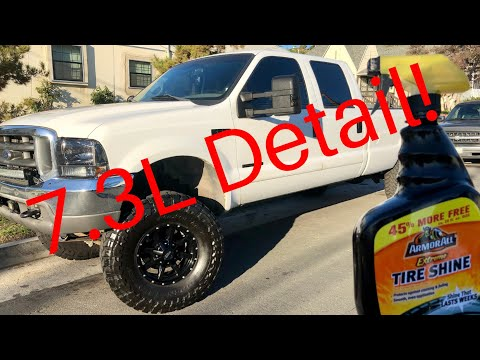 Wash and detail on the 7.3 FINALLY! How I clean up my 7.3l powerstroke