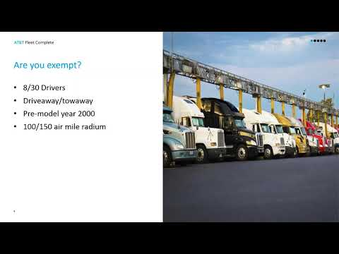 Webinar sessions E-Logs, ELDs and AOBRDs; What's the Difference?