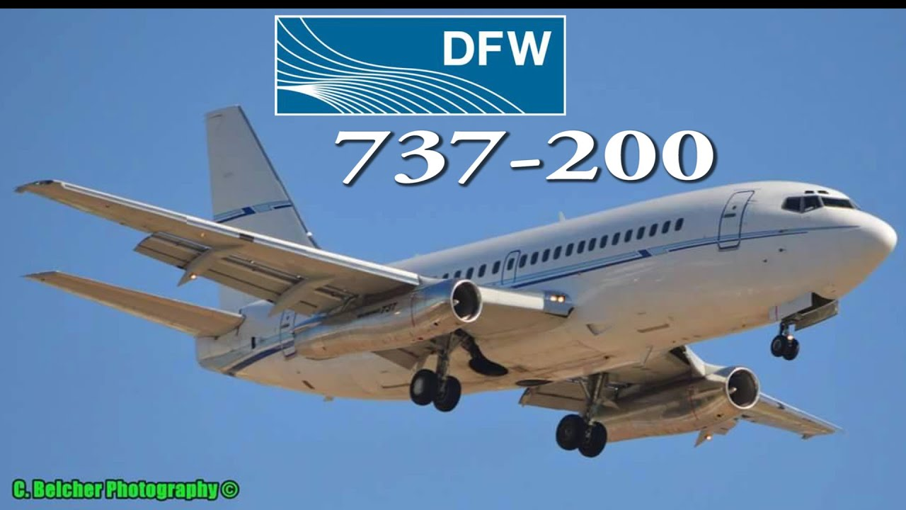 classic boeing 737-200 at dfw airport 2015 - youtube