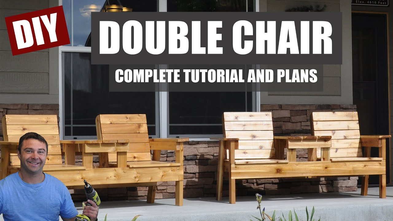 how to make a double chair bench diy patio furniture youtube