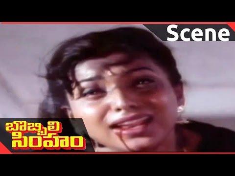 Bobbili Simham Movie || Balakrishna Punishes Himself || Balakrishna, Meena, Roja