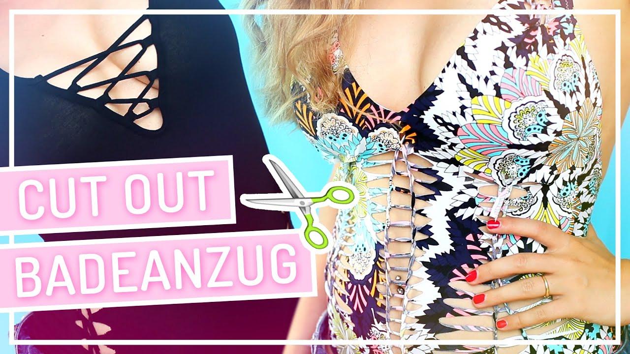 DIY CutOut Badeanzug und Body #TypischSissi - YouTube
