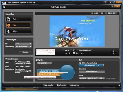 Übersicht Export in Avid studio und Pinnacle Studio