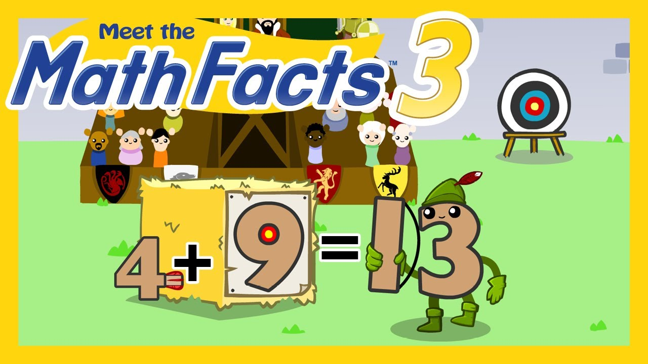 Meet the Math Facts Level 3 - 4+9=13 - YouTube