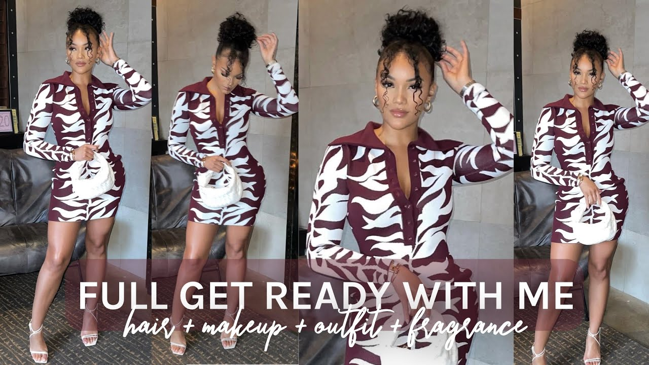 FULL GRWM! GIRLS NIGHT OUT GET READY WITH ME! HAIR + MAKEUP + OUTFIT + FRAGRANCE | ALLYIAHSFACE GRWM