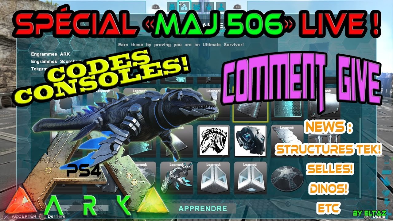 Ark maj 506 ps4fr special codes youtube ark maj 506 ps4fr special codes malvernweather Gallery