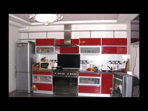 Изысканная Бордово Белая кухня