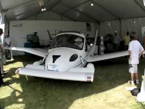 First ever flying car (Terrafugia transition) setting off.