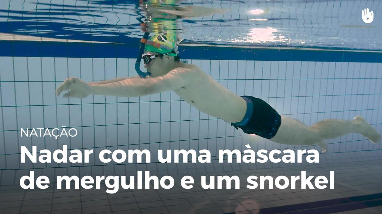 4d0470862 Nadar com uma máscara de mergulho e um snorkel | Natação - YouTube