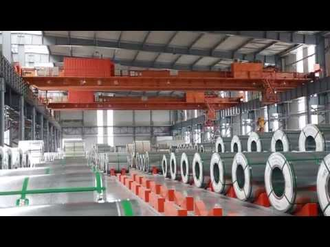 Double Girder Overhead Crane Used for Steel Coil Factory