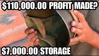 $110,000.00 PROFIT inside $7,000.00 STORAGE UNIT I bought an abandoned storage unit