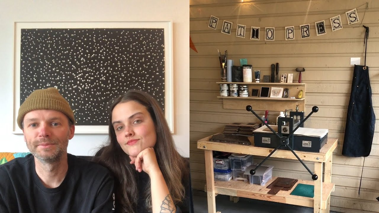 Watch these artists turn their patio into a printmaking studio!