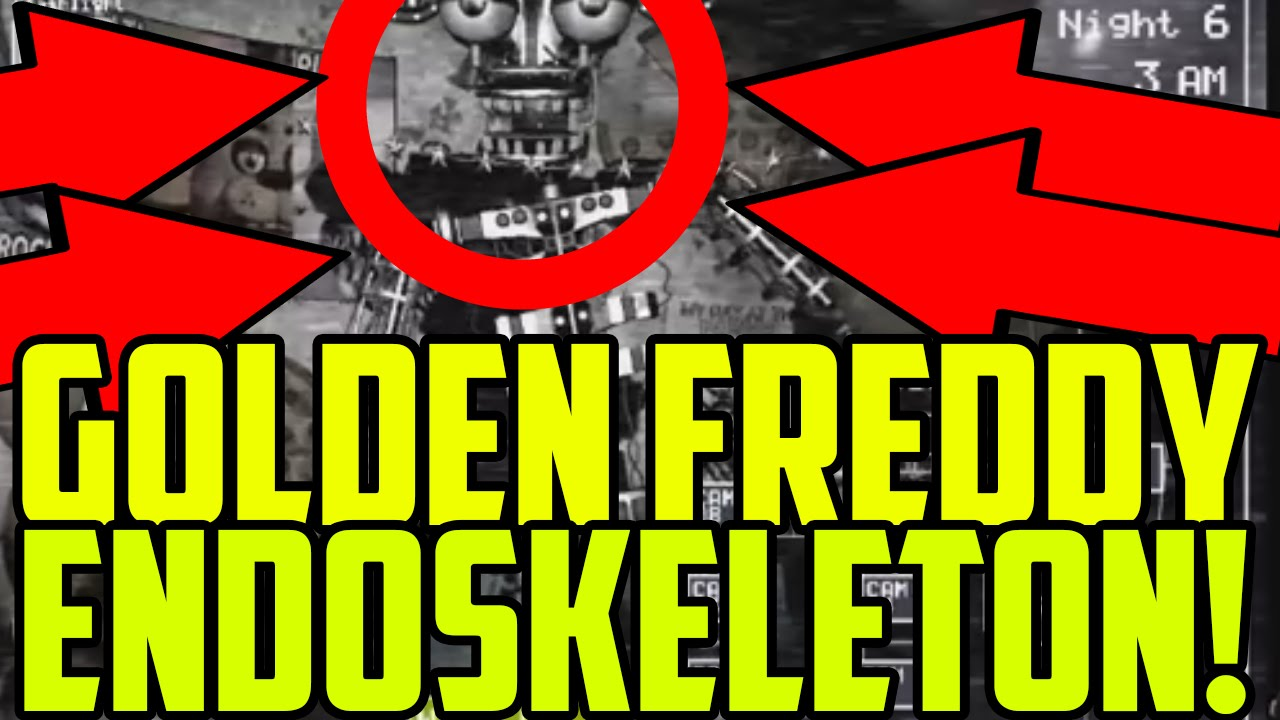 Five nights at freddys 2 golden freddy endoskeleton found five nights at freddys 2 golden freddy endoskeleton found insane easter egg youtube sciox Choice Image