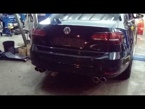Quad exhaust with valvetronic vw jetta mk7 1.4 by monster proshop ATM stage 2 tune