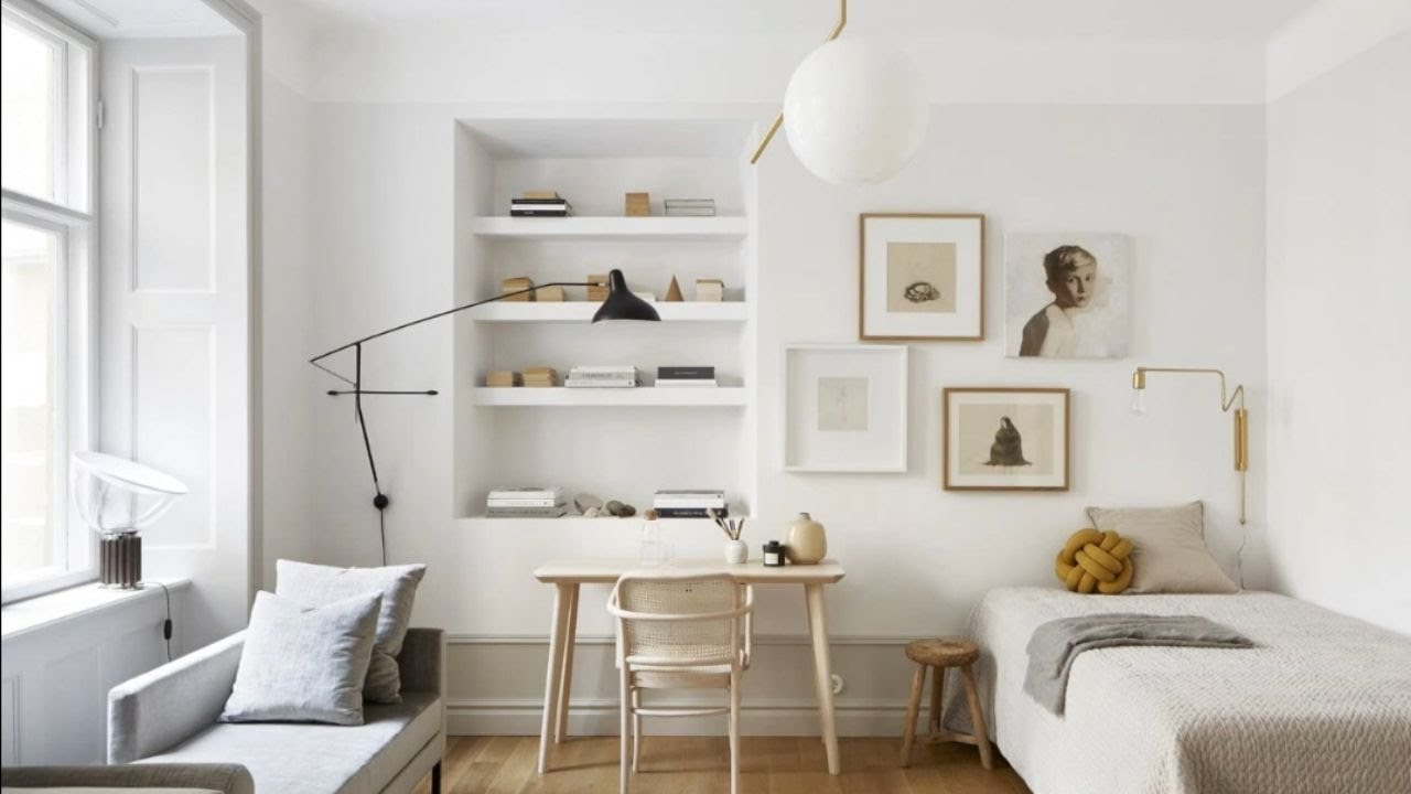 Match of minimalist scandinavian style in bright studio - Pictures of studio apartments ...