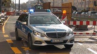 [Hören die das Horn nicht???] Funkstreife der Polizei Karlsruhe hats schwer im Baustellenverkehr