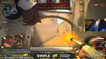 When S1mple plays AWP on stream